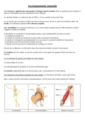 Mouvements corporels - Leçon - Ce2 - Cm1 - Sciences - Cycle 3
