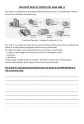 Comment nettoyer les eaux usées – Exercices – Cm1 – Cm2 – Sciences – Cycle 3