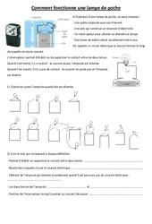 Comment fonctionne une lampe de poche - Electricité - Exercices - Ce2 Cm1 cm2 - Sciences - Cycle 3