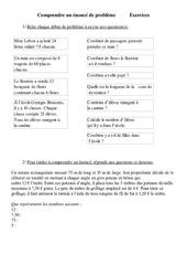 Comprendre un énoncé de problème - Problèmes - Ce2 - Exercices - Cycle 3   2