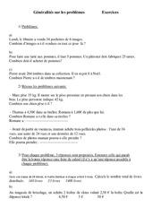 Généralités sur les problèmes - Problèmes - Ce2 - Exercices - Cycle 3  1