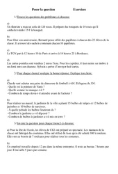 Poser la question – Problèmes – Ce2 – Exercices – Cycle 3  1