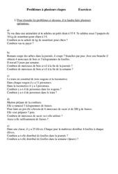 Problèmes à plusieurs étapes - Problèmes - Ce2 - Exercices - Cycle 3  2