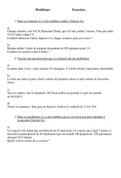 -Problèmes - Ce2 - Exercices - Cycle 3  Problèmes divers  1