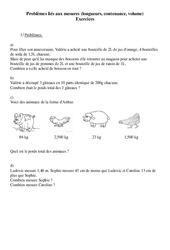 Longueurs, contenance, volume- Problèmes – Ce2 – Exercices – Cycle 3   3
