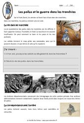 Les poilus et la guerre dans les tranchées - Cm2 - Exercices
