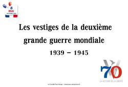 2ème guerre mondiale 1939 – 1945 – Vestiges du passé – Cm2 – Images
