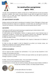 Construction européenne - Cm2 - Exercices