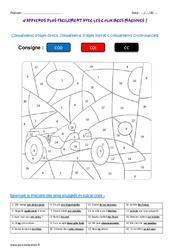 Compléments d'objet direct, indirect, circonstanciels - Cm1 - Coloriage magique