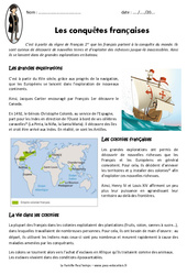 Conquêtes françaises – Cm1 – Exercices