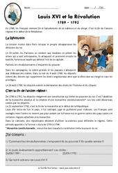 Louis XVI et la révolution – Cm1 – Exercices