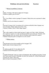 Division – Problèmes – Ce2 – Exercices – Cycle 3  2