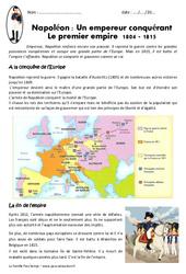 Napoléon , empereur conquérant – Cm1 – Exercices