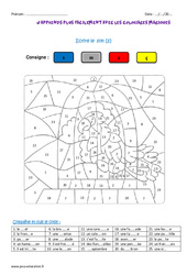 Le son s – Ce2 – Coloriage magique