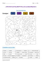 Homophones - Ce2 - Coloriage magique
