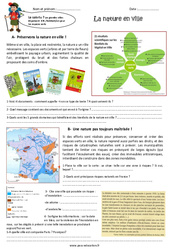 La nature en ville – Cm2 – Exercices
