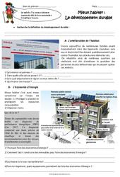 Mieux habiter - Le développement durable - Cm2 - Exercices