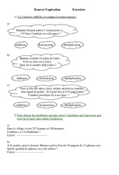 Trouver l'opération - Problèmes - Ce2 - Exercices - Cycle 3   2