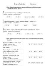 Trouver l'opération - Problèmes - Ce2 - Exercices - Cycle 3   1