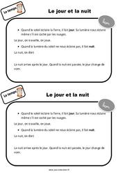 Jour - Nuit - CP - Leçon