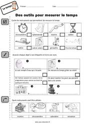 Outils pour mesurer le temps – CP – Exercices