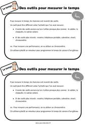 Outils pour mesurer le temps – CP – Leçon