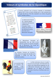 Valeurs et symboles de la république - Cm1 - Cm2 - Exercices