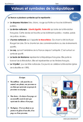 Valeurs et symboles de la république – Cm1 – Cm2 – Evaluation