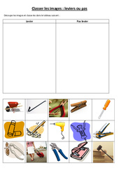 Leviers et balances: Classer les images levier ou pas - Ce2 cm1 cm2 - Cycle 3