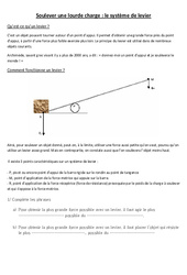 Leviers et balances: Documents + questions – Les leviers – Ce2 cm1 cm2 – Cycle 3