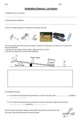 Leviers et balances – Evaluation – Ce2 – Cm1 – Cm2