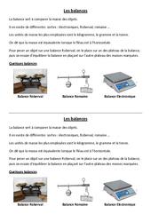 Balances – Leçon – Ce2 – Cm1 – Cm2 – Sciences – Cycle 3