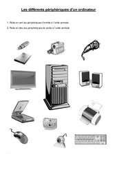 Les différents périphériques d'un ordinateur – Informatique – Ce2 – cm1 – cm2 – Sciences – Cycle 3