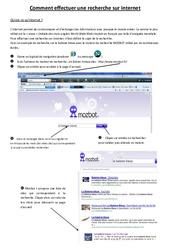 Comment effectuer une recherche sur internet - Informatique – Ce2 - cm1 - cm2 – Sciences – Cycle 3