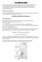 Cadavres exquis – Ce2 – Cm1 – Cm2 – Ecriture poétique – Cycle 3