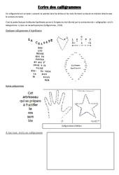 Calligrammes – Ce2 – Cm1 – Cm2 – Ecriture poétique  – Cycle 3