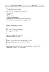 Problèmes - Proportionnalité - Cm1 - Exercices - Cycle 3    -2 -