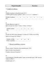Problèmes - Proportionnalité - Cm1 - Exercices - Cycle 3    -1