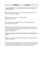 Problèmes – Cm1 – Exercices – Cycle 3   -2-