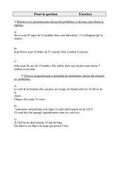 Poser la question – Cm1 – Exercices – Cycle 3    -2-