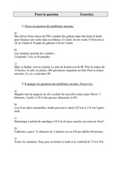 Poser la question – Cm1 – Exercices – Cycle 3    -1-