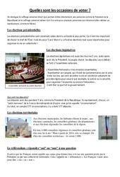 Quelles sont les occasions de voter - Cm1 cm2 - Document, questions