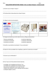 Le droit de vote – Cm1 cm2 –  Evaluation: Etre un citoyen français