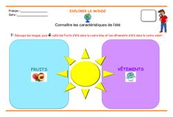 Connaître les caractéristiques de l'été – GS – Séances
