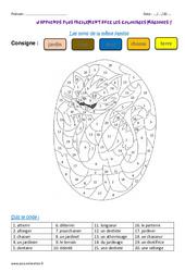 Mots de la même famille - Ce2 - Coloriage magique