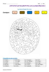 Lettre finale d'un mot - Cm2 - Coloriage magique