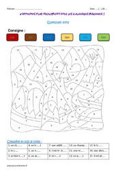Quelques sons – Ce2 – Coloriage magique