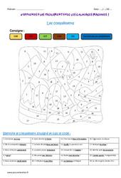 Les compléments - Cm1 - Coloriage magique