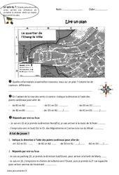 Lire un plan - Ce2 - Exercices