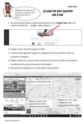Le plan de mon quartier pas à pas - Ce2 - Exercices
